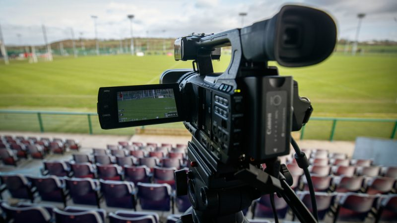 Live Stream cameras set up at the game 27/1/2019