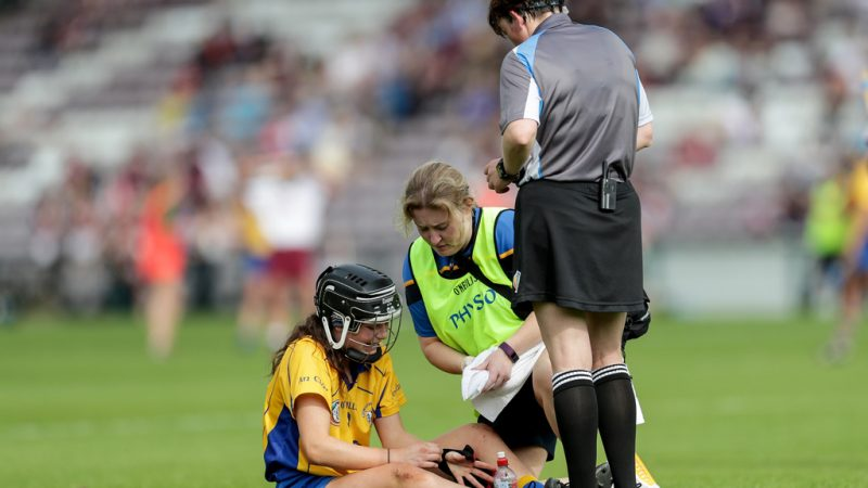 Ciara Doyle receives medical attention 9/6/2018
