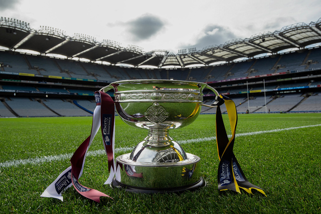 A view of the O'Duffy Cup ahead of the game 8/9/2019