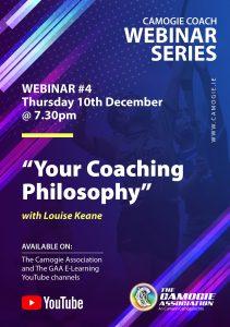 Camogie Coch Webinar #4 - 'Your Coaching Philosophy'