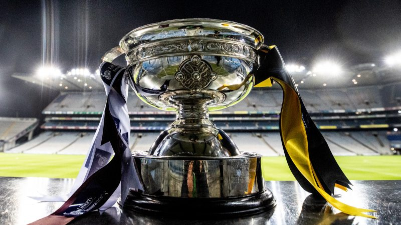A general view of the O'Duffy Cup ahead of the game
